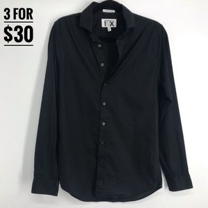 🖤3/$30 express men button down black small